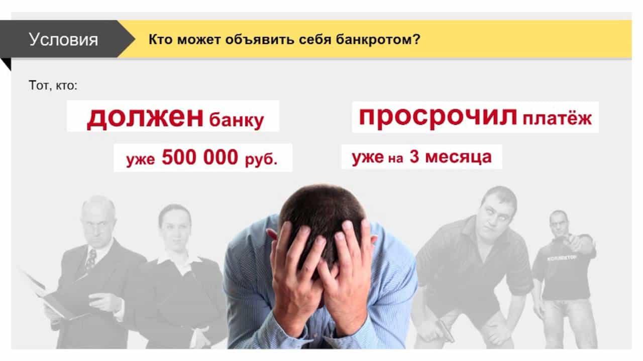 кто может объявить себя банкротом