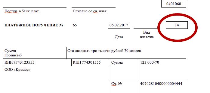 статус налогоплательщика в платежке по НДФЛ