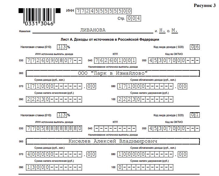 пример листа А для продажи авто