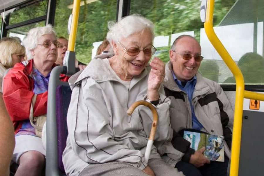 Пенсионеры в транспорте