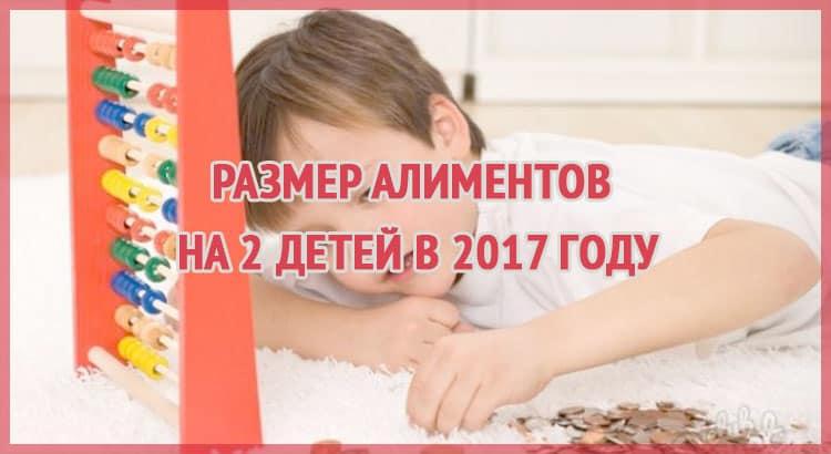 размер алиментов на 2 детей в 2017 году