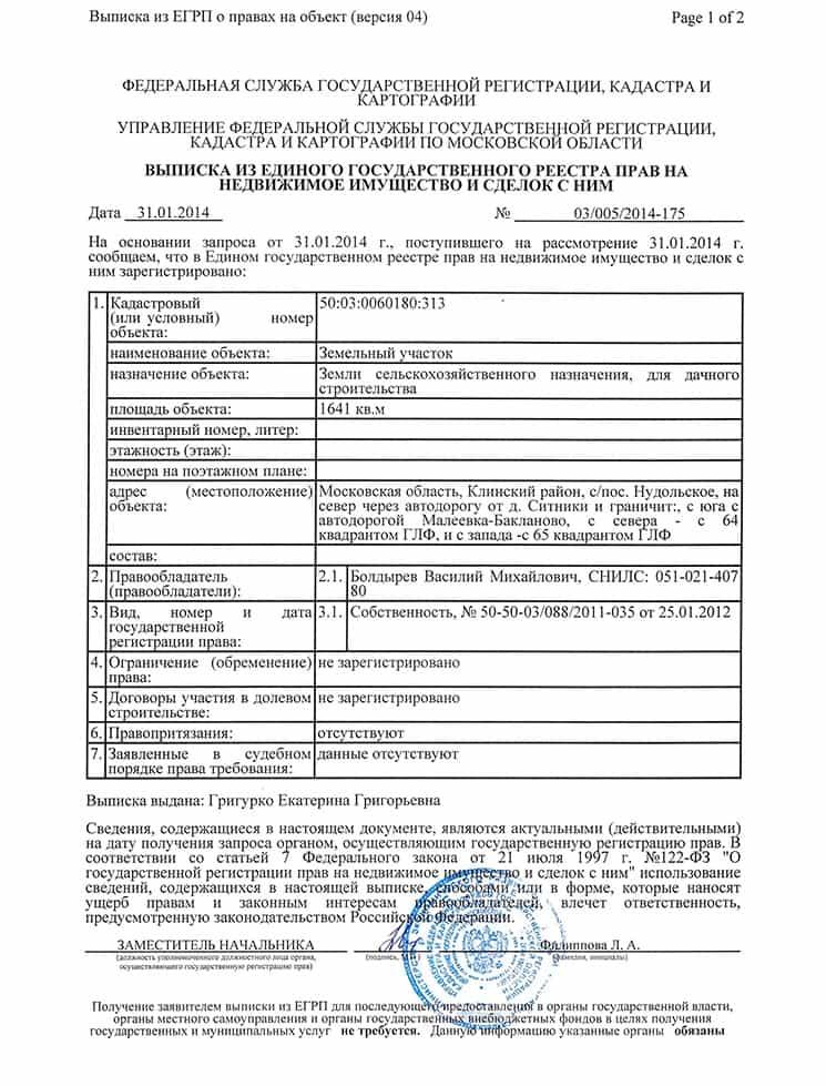 Документ на право собственности на квартиру