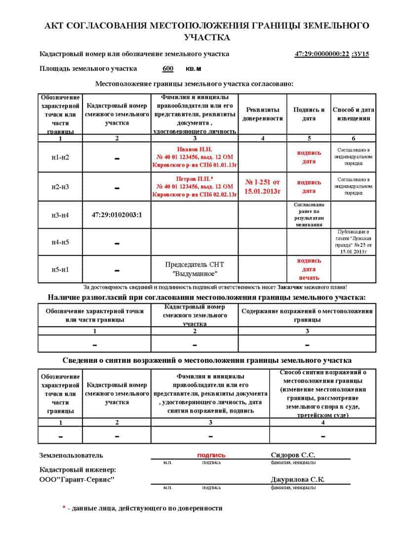 Документ согласования