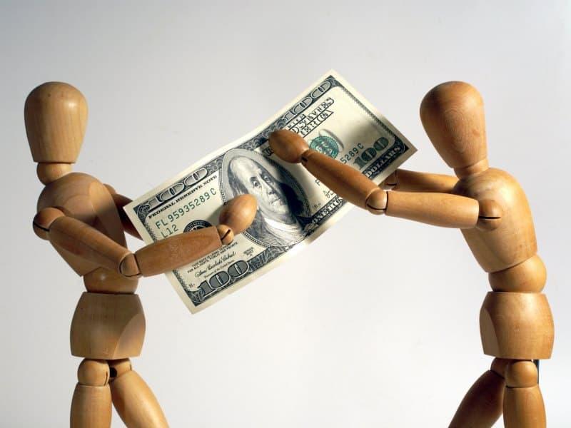 Взыскание денег