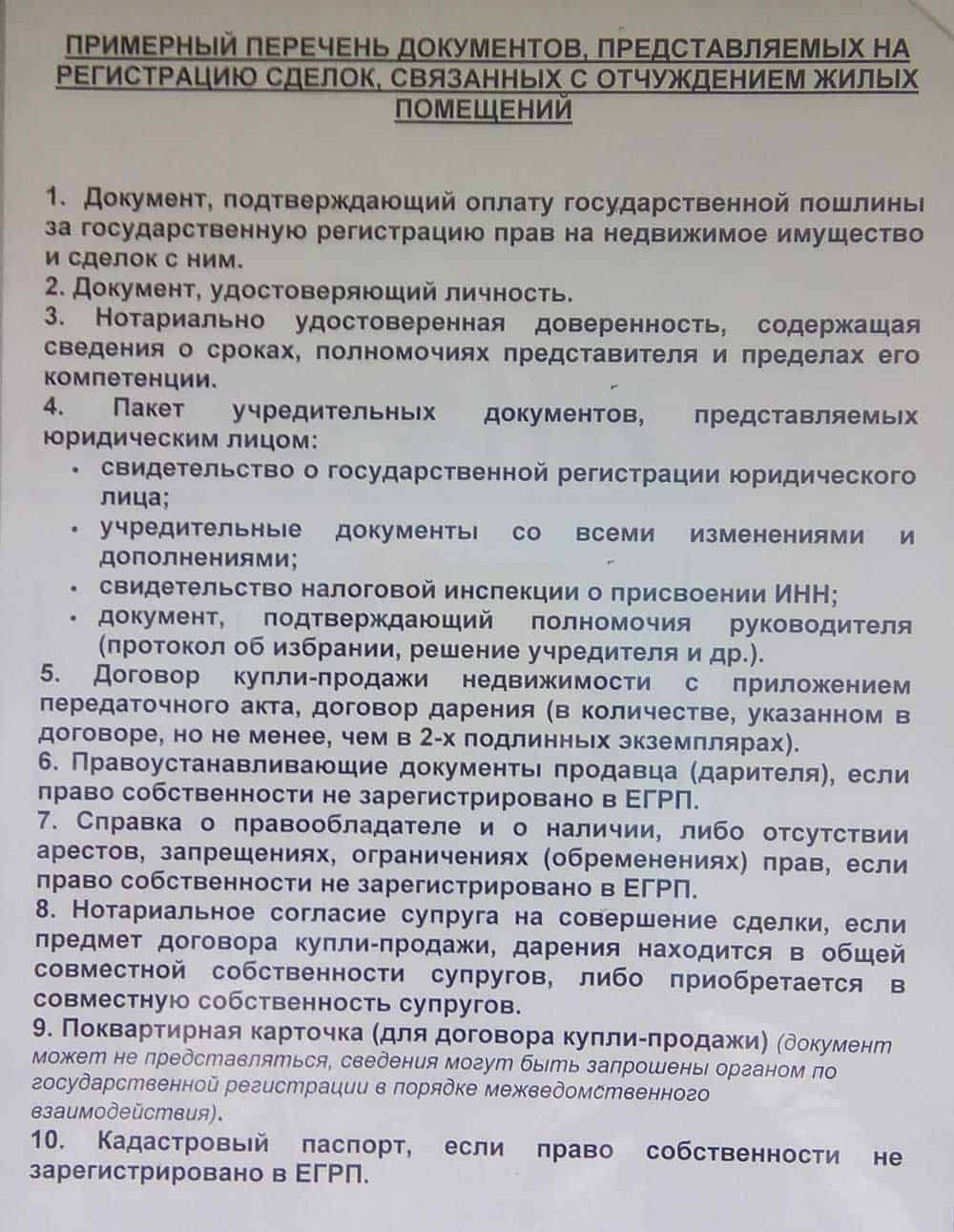 Документы - список