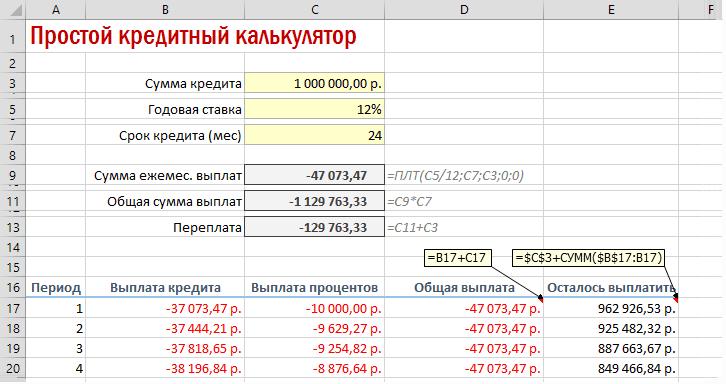 Способ расчета