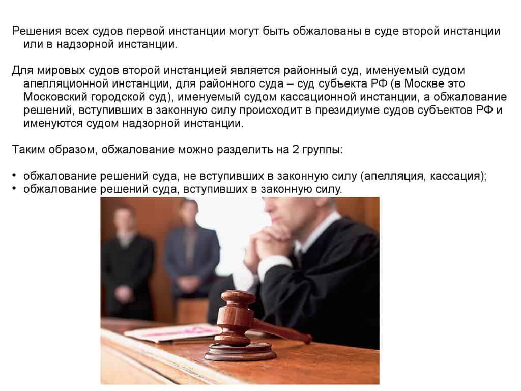 Решение судов