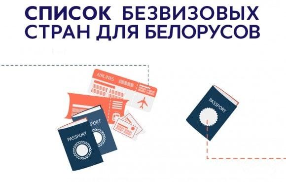 список безвизовых стран для белорусов