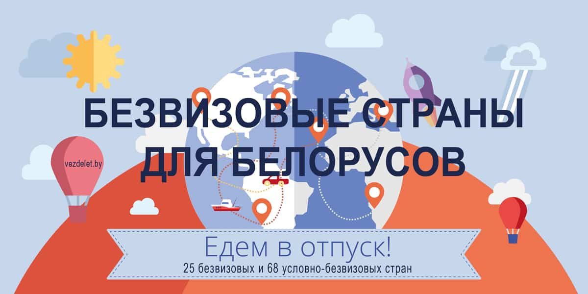 куда не нужна виза белорусам
