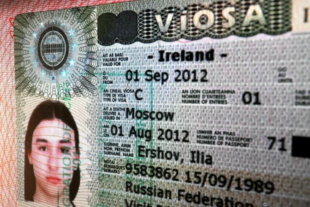 туристическая виза в Ирландию