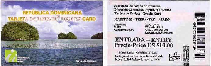 карта туриста в республике Доминикана