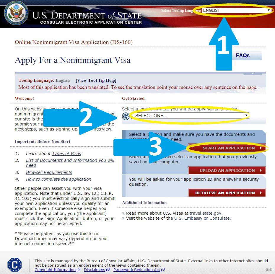 сайт ГосДепа США