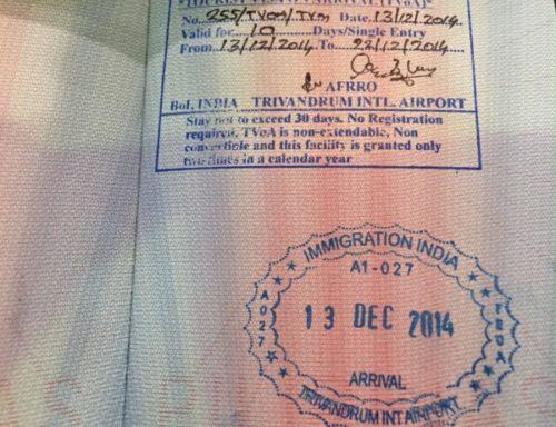 штамп визы в Индию