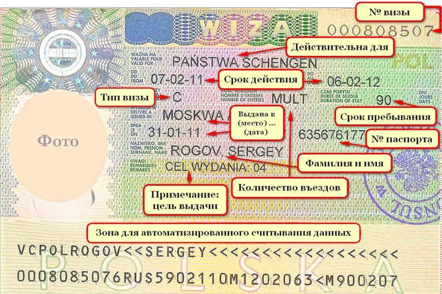 где посмотреть номер шенгенской визы