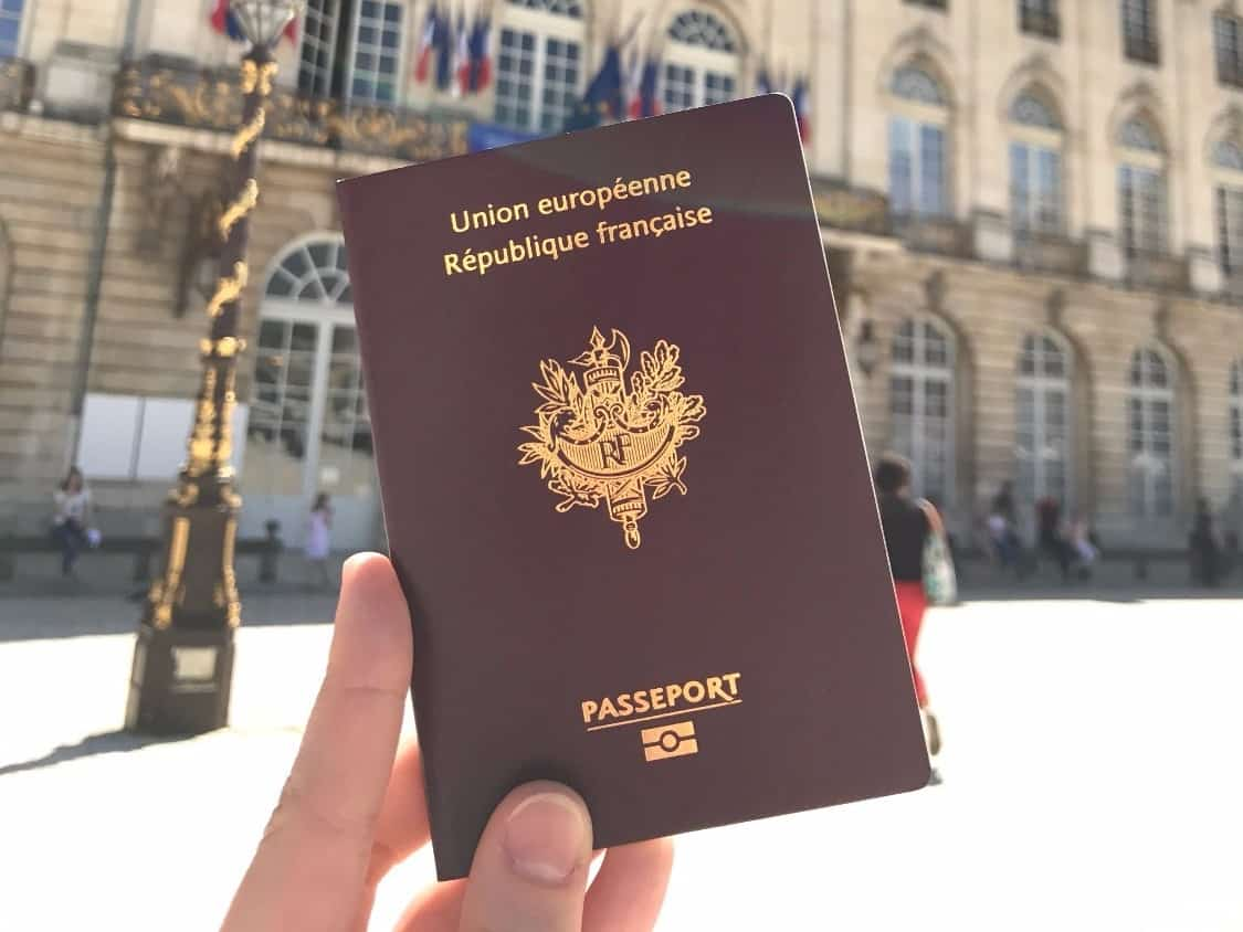 Паспорт гражданина Франции