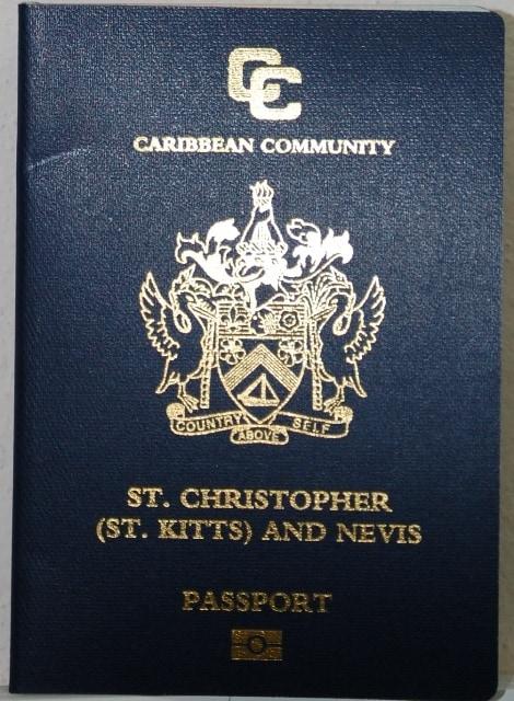 паспорт Сент Китс и Невис