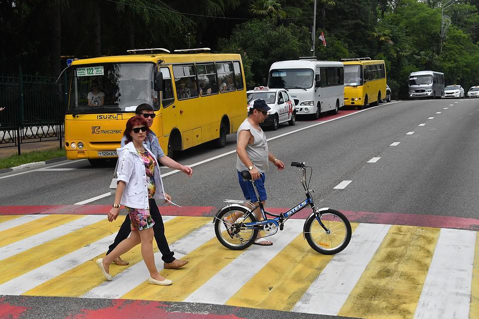 Непропуск пешехода и велосипедиста