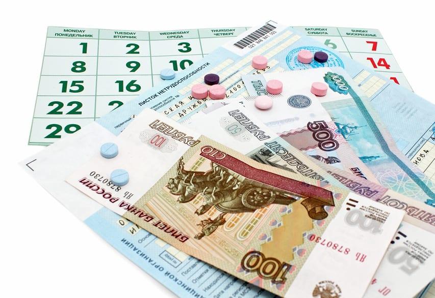 Сколько дней больничного оплачивается в год работнику