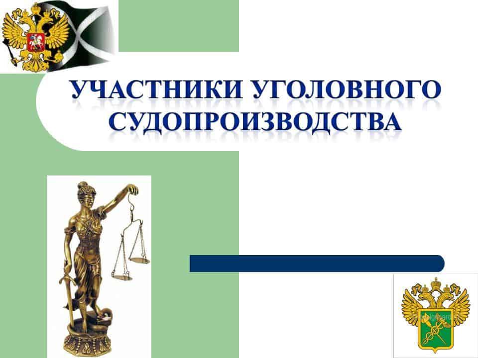 участники уголовного процесса - общее понятие