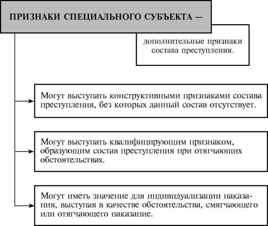 признаки спецсубъекта преступления