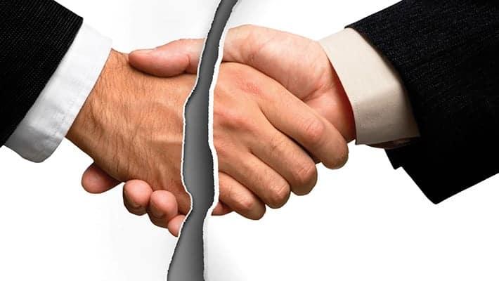 Неисполнение обязательств по договору – это?