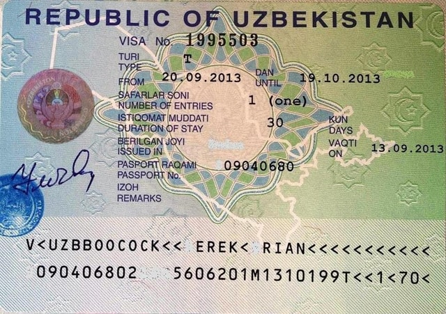 виза в Узбекистан